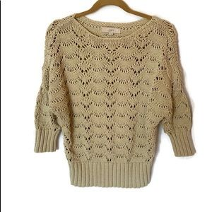 LOFT Tan Pullover Sweater Size Large Color Tan